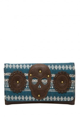 Loungefly Portemonnaie Blue Brown Skull