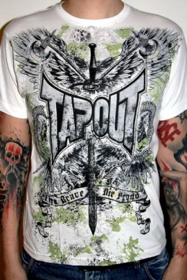 Tapout Shirt Sword weiss