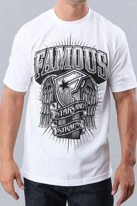 Famous Stars and Straps Shirt Black Light weiss
