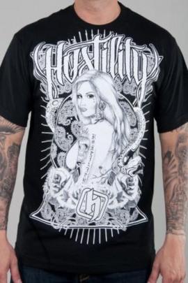 Hostility Shirt Slick schwarz