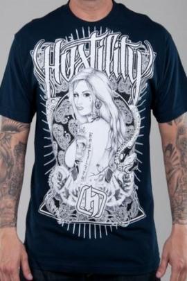 Hostility Shirt Slick blau