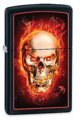 Zippo Fire Skull