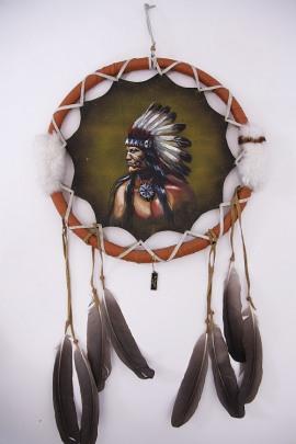 Traumfänger Indianer Häuptling Handgemacht