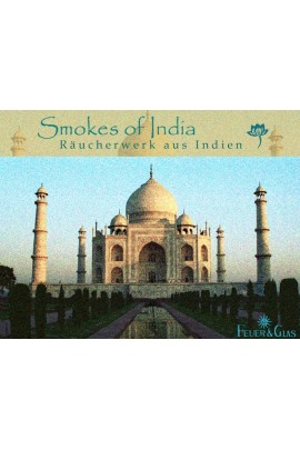 Räucherkasten Smokes of India Feuer und Glas