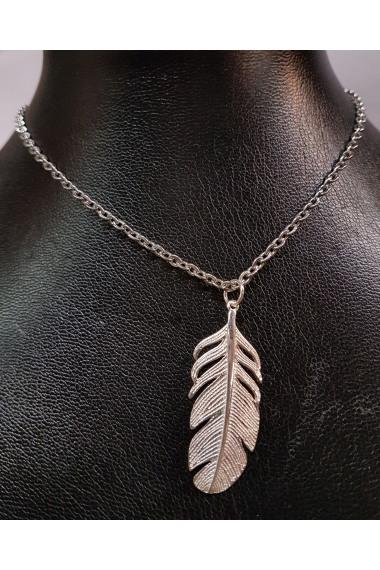 Silberkette mit Federanhänger