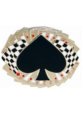 Gürtelschnalle Poker