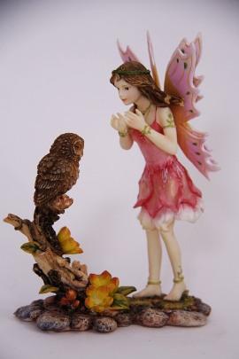 Figur Elfe mit Eule Mysticalls