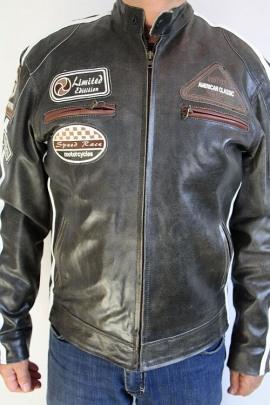 Jacke Real Leather Grau