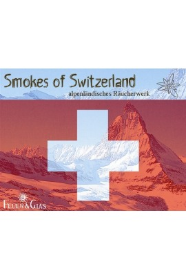 Räucherkasten Smokes of  Switzerland Feuer und Glas