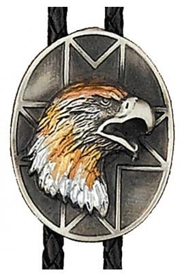 Bolo Tie Tri-color Eagle