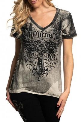 Affliction Shirt Huntington Gardens Grey