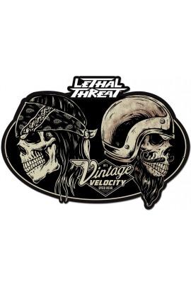 Metallschild Vintage Velocity Skull