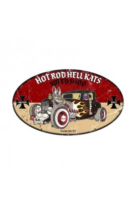 Metallschild Hot Rod Hellkats