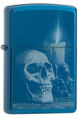 Zippo Skull Design blue